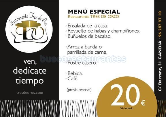 menu especial 20