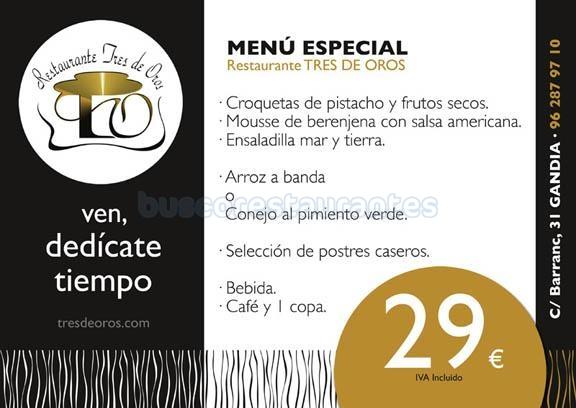 menu especial 29