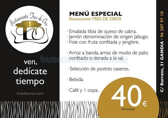 menu especial 40