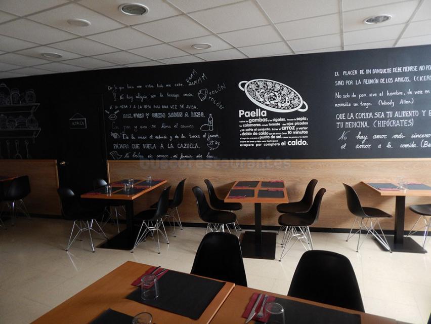 Detalle del interior del Restaurante A la Cazuela de Viladecans