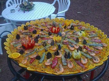 Paellas de Marisco ,carne y verduras.