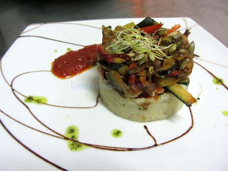 timbal de patata y seitán