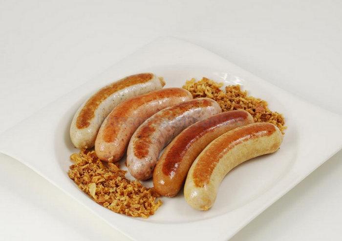 Surtido de salchichas alemanas de Hot Dog's House