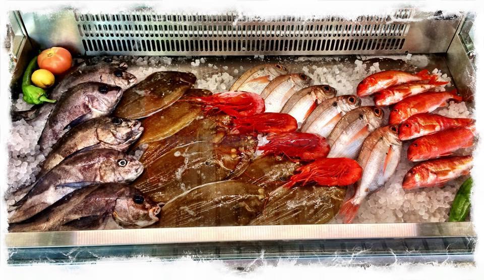 Expositor de pescado y marisco