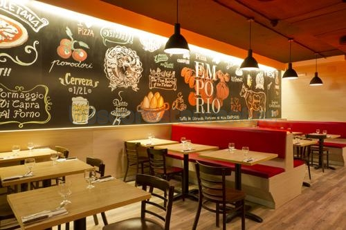 Restaurante pizza emporio fuencarral madrid for Decoracion pizzeria