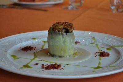 Alcachofas con hongos y foie en salsa perigourdin