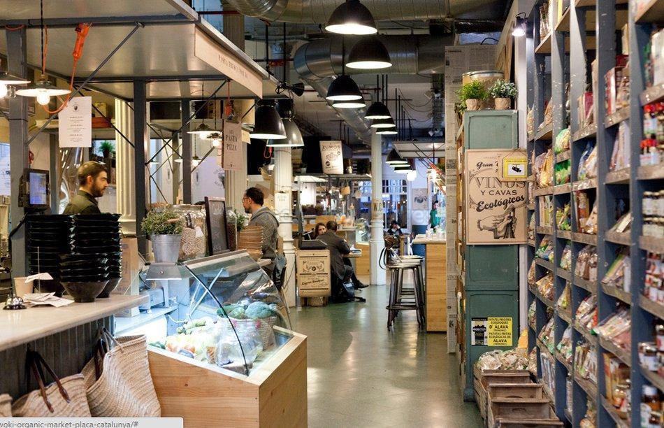Woki organic market Plaça Catalunya